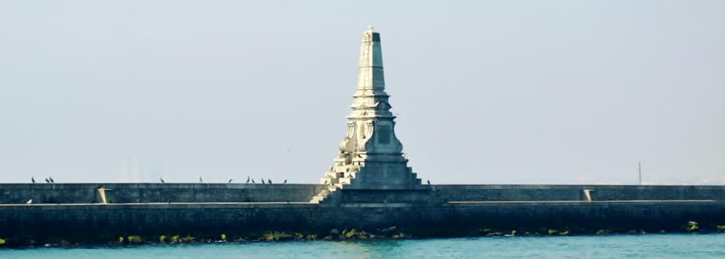 II. Abdülhamit 25.cülus yılı anısına A. Vallaury tasarımı olan kolon.