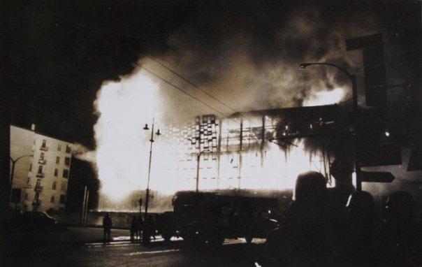 Yangından bir görüntü