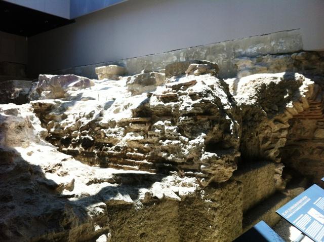 Konstantiniyye Oteli'nin üzerine inşa edildiği tarihi saraya ait kalıntılar
