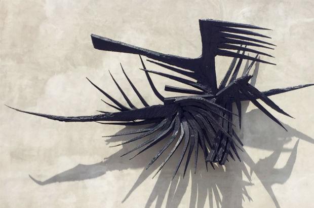 Kuzgun Acar - Kuşlar adlı soyut kompozisyon